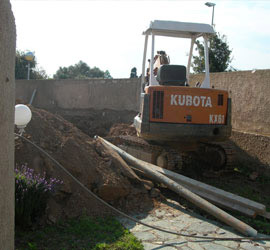 terrassement pour une future piscine